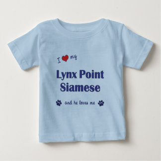 I Love My Lynx Point Siamese (Male Cat) Tshirt
