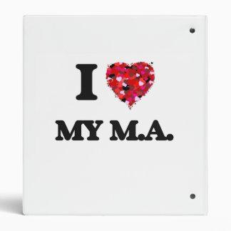 I Love My M.A. Vinyl Binder
