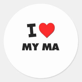 I Love My Ma Stickers