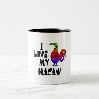 I Love My Macaw Two-Tone Coffee Mug