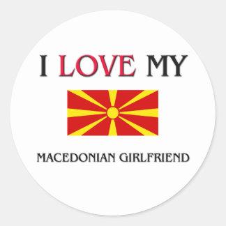 I Love My Macedonian Girlfriend Classic Round Sticker