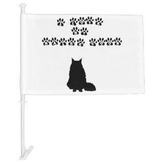 I Love My Maine Coon--Black Text Car Flag