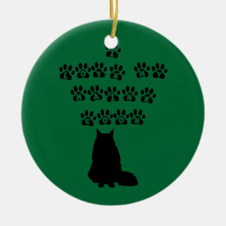 I Love My Maine Coon--Black Text Ceramic Ornament