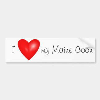 I love my Maine Coon bumper sticker
