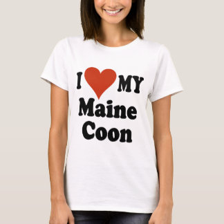I Love My Maine Coon Cat Merchandise T-Shirt