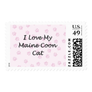 I Love My Maine Coon Cat Postage Stamp