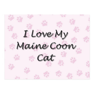 I Love My Maine Coon Cat Postcard