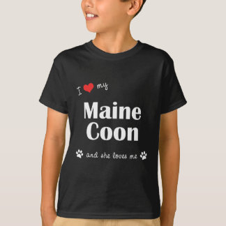 I Love My Maine Coon (Female Cat) T-Shirt