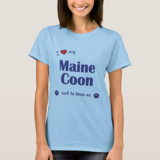 I Love My Maine Coon (Male Cat) T-Shirt