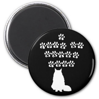 I Love My Maine Coon--White Text Magnet