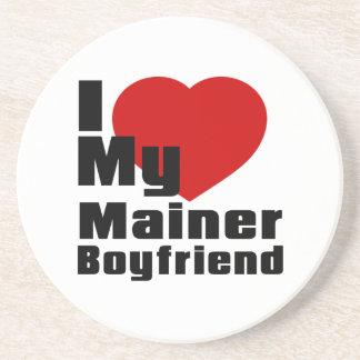 I Love My Mainer boyfriend Beverage Coaster