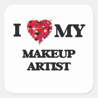 I love my Makeup Artist Square Sticker
