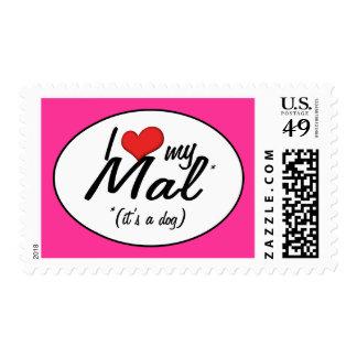I Love My Mal (It's a Dog) Stamp