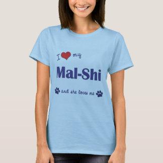 I Love My Mal-Shi (Female Dog) T-Shirt