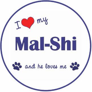 I Love My Mal-Shi (Male Dog) Cutout