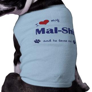 I Love My Mal-Shi (Male Dog) Dog T-shirt