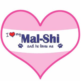 I Love My Mal-Shi (Male Dog) Statuette