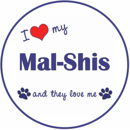 I Love My Mal-Shis (Multiple Dogs) Cut Out