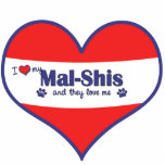 I Love My Mal-Shis (Multiple Dogs) Photo Sculpture