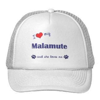 I Love My Malamute (Female Dog) Mesh Hats