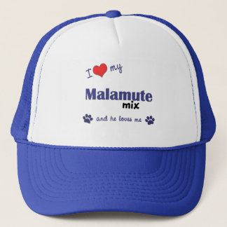 I Love My Malamute Mix (Male Dog) Trucker Hat
