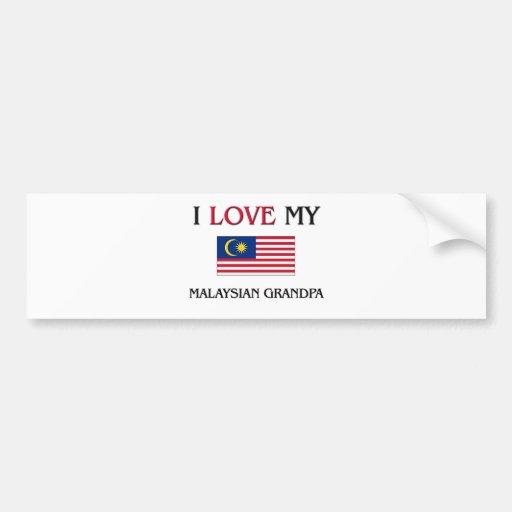 I Love My Malaysian Grandpa Bumper Sticker