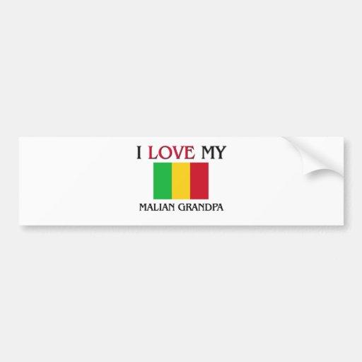 I Love My Malian Grandpa Bumper Sticker