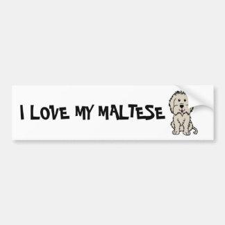 I Love My Maltese Bumper Sticker