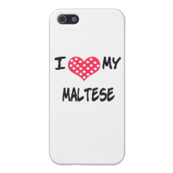 Case Savvy iPhone 5 Matte Finish Case with Maltese Phone Cases design