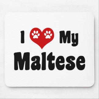 I Love My Maltese Mouse Pad