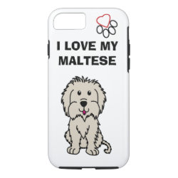 Case-Mate Barely There iPhone 7 Case with Maltese Phone Cases design