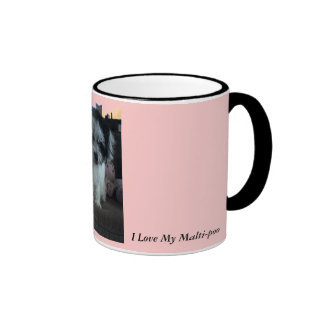 I Love My Malti-poo, pink Mugs