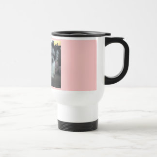 I Love My Malti-poo pink travel Coffee Mugs