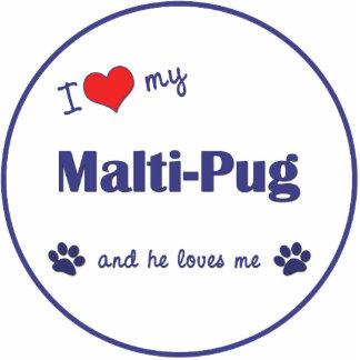 I Love My Malti-Pug (Male Dog) Statuette