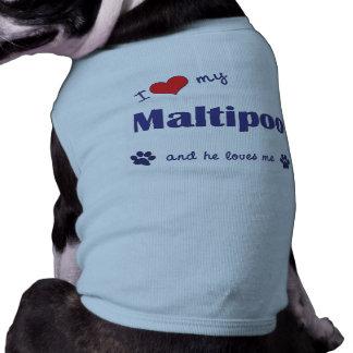 I Love My Maltipoo (Male Dog) Tee