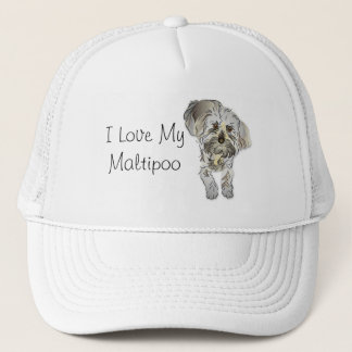 I Love My Maltipoo Trucker Hat
