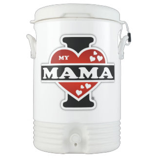 I Love My Mama Heartbeats Beverage Cooler