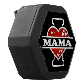 I Love My Mama Heartbeats Black Bluetooth Speaker