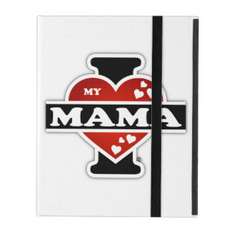 I Love My Mama Heartbeats iPad Cover