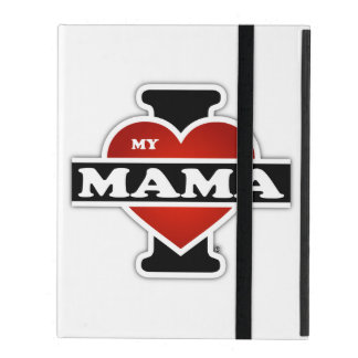 I Love My Mama iPad Folio Case