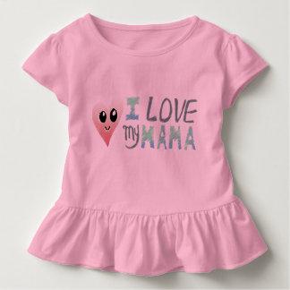 I Love My Mama Toddler Ruffle Tee, Pink T-shirt