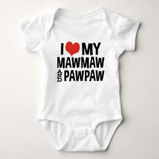 I Love My Mamaw and Papaw Baby Bodysuit