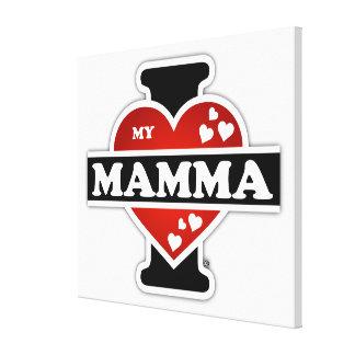 I Love My Mamma Heartbeats Canvas Print