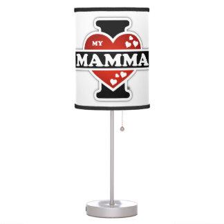 I Love My Mamma Heartbeats Desk Lamp
