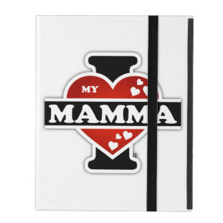 I Love My Mamma Heartbeats iPad Folio Case