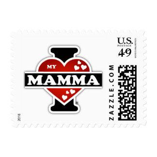 I Love My Mamma Heartbeats Postage