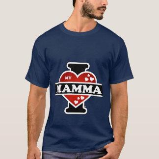 I Love My Mamma Heartbeats T-Shirt