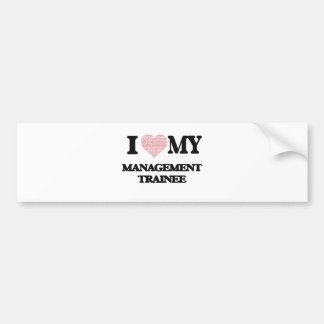I love my Management Trainee (Heart Made from Word Car Bumper Sticker