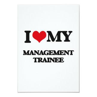 "I love my Management Trainee 3.5"" X 5"" Invitation Card"