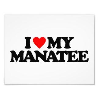 I LOVE MY MANATEE PHOTO ART